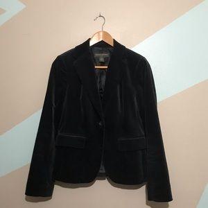 Banana Republic Black Velvet Blazer Size 6